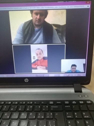 Онлайн среща с младежи от Каварна